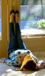 "Viparita Karani or ""Legs up the wall Yoga Pose"""